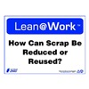 Zing 2161 Lean Processes Sign, 10 x 14In, ENG, Text
