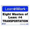 Zing 2169 Lean Processes Sign, 10 x 14In, ENG, Text