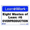 Zing 2171 Lean Processes Sign, 10 x 14In, ENG, Text