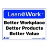 Zing 2180 Lean Processes Sign, 10 x 14In, ENG, Text