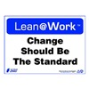 Zing 2187 Lean Processes Sign, 10 x 14In, ENG, Text