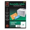 Simon By Sjpaper SL12589 Laser Label, White, 2 5/8In, PK100