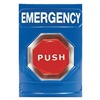 Safety Technology International SS-2405E Emergency Push Button, Blue, ADA