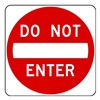 Brady 80076 Traffic Sign, 24 x 24In, R/WHT, Text, R5-1