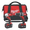 Milwaukee 2697-22 Cordless Combination Kit, 18.0V, 2.8A/hr.