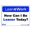 Zing 2160 Lean Processes Sign, 10 x 14In, ENG, Text