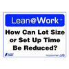 Zing 2163 Lean Processes Sign, 10 x 14In, ENG, Text