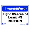 Zing 2168 Lean Processes Sign, 10 x 14In, ENG, Text
