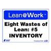 Zing 2170 Lean Processes Sign, 10 x 14In, ENG, Text