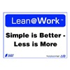 Zing 2188 Lean Processes Sign, 10 x 14In, ENG, Text