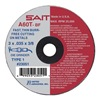 United Abrasives-Sait 23068 Abrsv Cut Whl, 4In D, 0.625In T, 1/4In AH