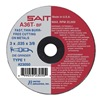 United Abrasives-Sait 23042 Abrsv Cut Whl, 3In D, 0.625In T, 1/4In AH
