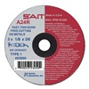 United Abrasives-Sait 23075 Abrsv Cut Whl, 4In D, 0.125In T, 3/8In AH