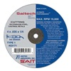 United Abrasives-Sait 23167 Abrsv Cut Whl, 4In D, 0.625In T, 1/4In AH