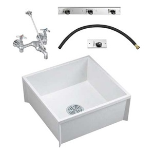 Fiat Floor Sink : Fiat Products MSBIDTG2424100 Mop Sink To Go, Floor, Faucet/Hardware Be ...