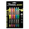 Sharpie Accent 24575PP Highlighter, Liquid, Assorted, PK5