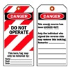 Brady 65452 Danger Tag, 5-3/4 x 3 In, Cardstock, PK25