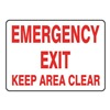 Accuform Signs MEXT554VP Emergency Exit Sign, 7 x 10In, R/WHT, PLSTC