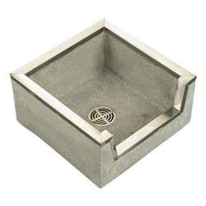 Fiat Floor Sink : Fiat Products TSB3000501 Mop Sink, Terrazzo, 6 In Drop Front, SS Shl ...