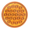 Optronics SLL-43AKB1PG Warning Light, Amber, 4.25 In, LED, Func 1