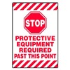 Accuform Signs PSR684 Floor Sign, Red/White, 14 In. x 20 In