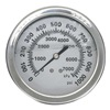 Approved Vendor 4CFE9 Pressure Gauge, Filled, 1 1/2In, 1000Psi, SS