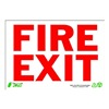 Zing 1079 Sign, Fire Exit, 7x10, Plastic