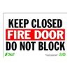Zing 1083 Sign, Keep Fire Door Closed, 7x10, Plastic