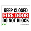 Zing 2083S Sign, Keep Fire Door Closed, 10x14, Adhesiv