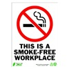 Zing 2087 Sign, Smokefree Workplace, 14x10, Plastic