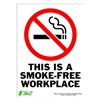 Zing 2087S Sign, Smokefree Workplace, 14x10, Adhesive