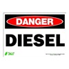 Zing 1092S Sign, Danger Diesel, 7x10, Adhesive