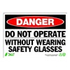 Zing 1096 Sign, Danger Do Not Operate, 7x10, Plastic