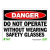 Zing 2096 Sign, Danger Do Not Operate, 10x14, Plastic