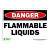 Zing 2099S Sign, Danger Flammable Liquids, 10x14