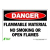 Zing 1100S Sign, Danger Flammable Material, 7x10