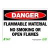 Zing 2100A Danger No Smoking Sign, 10 x 14In, ENG