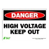 Zing 1104S Sign, Danger High Voltage, 7x10, Adhesive