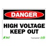 Zing 2104 Sign, Danger High Voltage, 10x14, Plastic