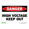 Zing 2104S Sign, Danger High Voltage, 10x14, Adhesive