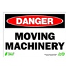 Zing 2108 Sign, Danger Moving Machinery, 10x14