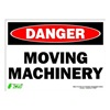 Zing 2108S Sign, Danger Moving Machinery, 10x14
