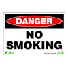 Zing 1109 Sign, Danger No Smoking, 7x10, Plastic
