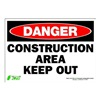 Zing 1112S Sign, Danger Construction Area, 7x10