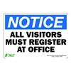 Zing 1129S Sign, Notice Visitors To Office, 7x10