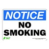 Zing 1133S Sign, Notice No Smoking, 7x10, Adhesive