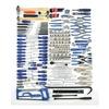 Westward 4VCN6 Master Tool Set, SAE, 280 Pc
