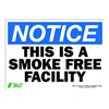 Zing 2136S Notice No Smoking Sign, 10 x 14In, ENG