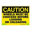 Zing 1153 Caution Sign, 7 x 10In, BK/YEL, ENG, Text