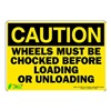 Zing 1153S Caution Sign, 7 x 10In, BK/YEL, ENG, Text
